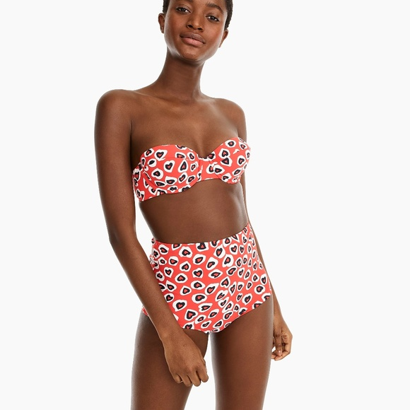 J. Crew Other - J.Crew Demi Underwire Top and High Waisted Bottom